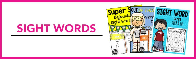 sight words reading curriculum